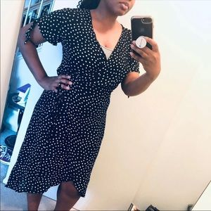 H&M Polka Dot Wrap Dress